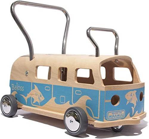 punto de venta barato 3 3 3 en 1 Andador + furgoneta + correpasillo Baloss ALOHA de madera azul, Made in   garantía de crédito