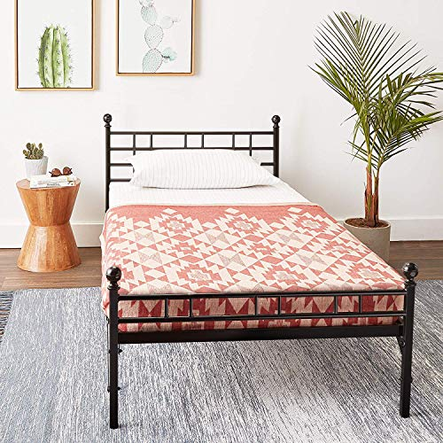Best Price Mattress - Easy Set-up Folding Metal Bed Frame Model H - Twin XL