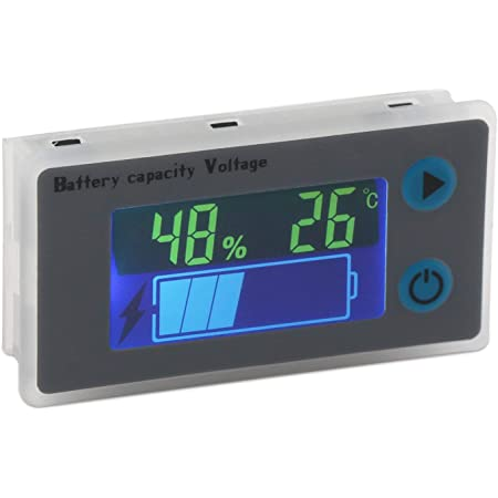 Dollatek Battery Capacity Monitor 10 100v Programmierbarer Batteriestand Spannung Temperatur Meter Gauge 12v 24v 36v 48v Lcd Anzeige Prozentsatz Indikator Tester Electric Quantity Detector Bürobedarf Schreibwaren