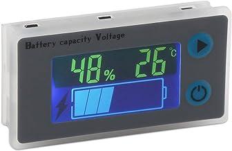 DollaTek Monitor de Capacidad de la batería 10-100V Batería programable Medidor de Temperatura de Voltaje Medidor 12V 24V 36V 48V Pantalla LCD Indicador de Porcentaje