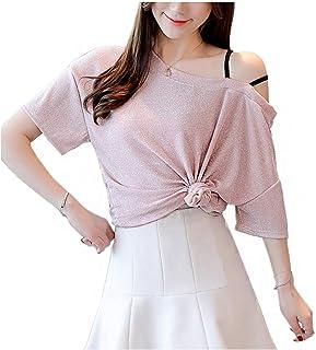 Liliam Women Girls Casual Shiny Flash Tank Tops Blouse T-Shirt Tee
