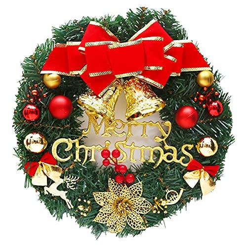 Corona de flores natural realista de imitación de seda flor decorativa de árbol de Navidad para el hogar - A