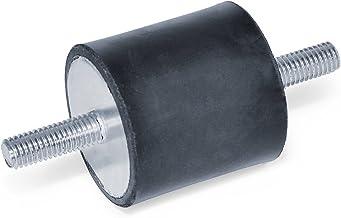 Ganter Normelemente GN 351-30-30-M8-SS-55 351-30-30-M8-SS-55 rubberen doppen, zwart, schroefdraad: M8 diameter: 30 mm, 10 ...