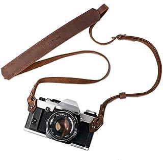 TARION Genuine Leather Camera Strap Vintage DSLR Camera Neck Strap Belt Film Camera Shoulder Strap Cord Long Rope Adjustab...