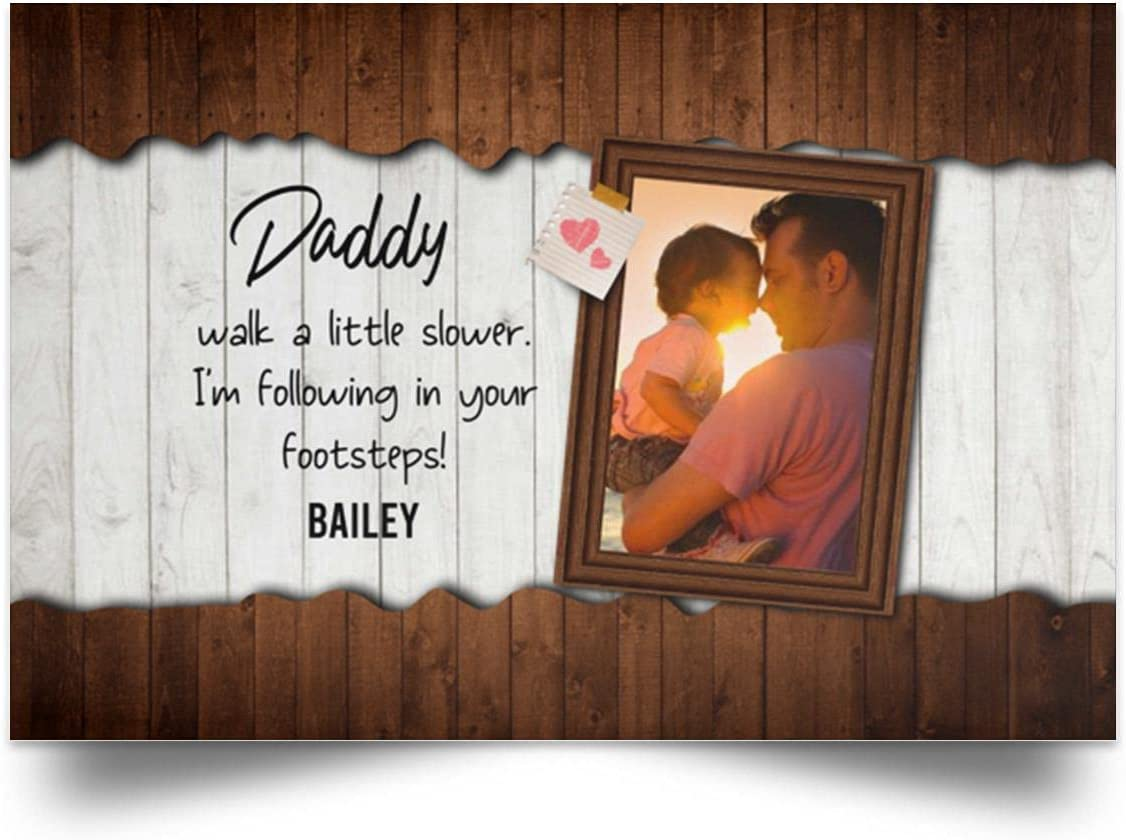 Custom Photo Walk a Portland Mall Little Slower Daddy - Popular brand in the world Framed Canvas Unframed