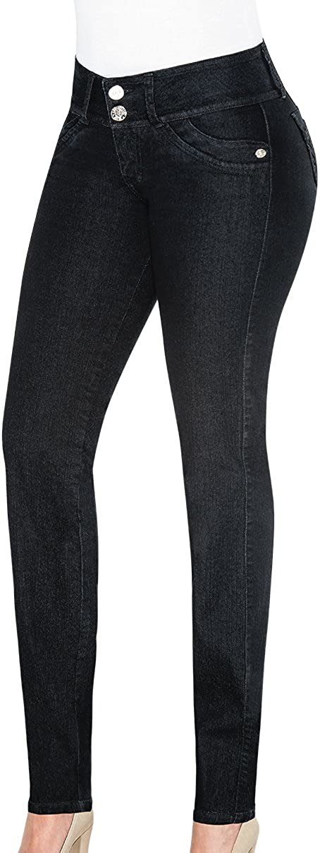 Equilibrium J8588 - Colombian Design Black Branded goods Max 84% OFF Skinny Mid-Rise Jean