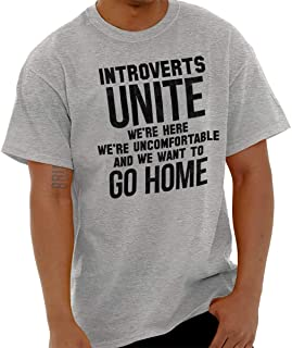 Introverts Unite Here Funny Antisocial Gym T Shirt Tee