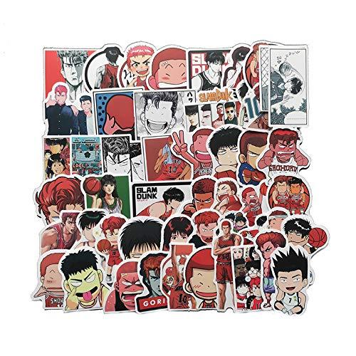 50 hojas/bolsa Slam Dunk Comics Baloncesto Emoji Pack Película Tonta Lindo Dibujos Animados Notas Maleta Casco Etiqueta