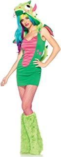 Leg Avenue 2 Piece Magic Dragon Dress with Hood and Spiked Tail and Velcro Wings
