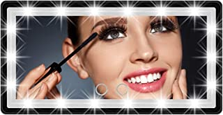Car Sun Visor Mirror with LED Lights Automobile Makeup Mirror with Lights Cosmetic Mirror Clip on Sun Visor Travel Vanity ...