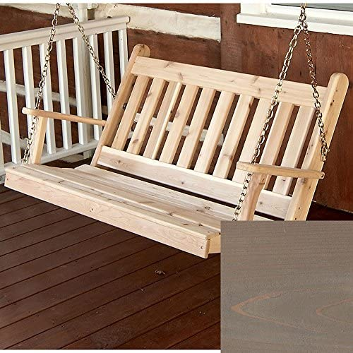 AL Excellence Furniture Elegant Co. Traditional English Red Swing ... Porch Cedar