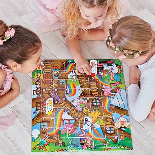 Orchard Toys 059 Fairy Snakes and Ladders with Ludo, multicoloured
