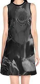 ブラックローズ グレー バラ 花柄ワンピース ワンピース レディース カジュアル 夏物 夏服 スカート おしゃれ 洋服 ファッション 流行る