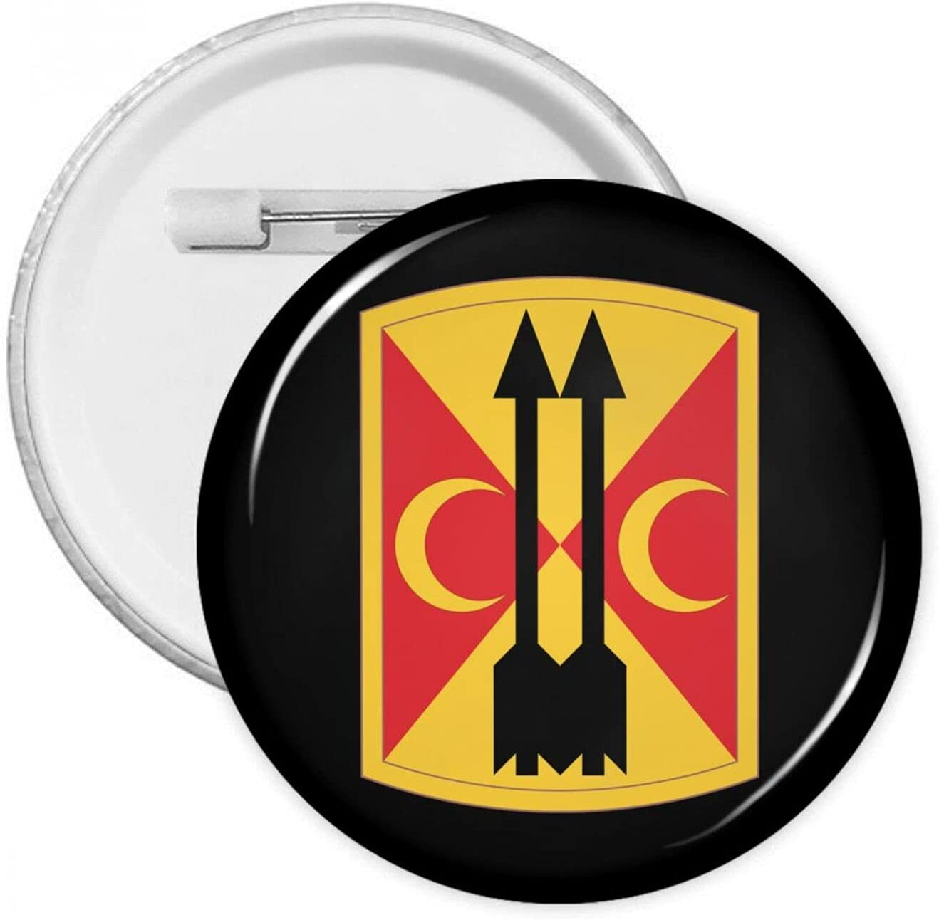 212th Field Artillery Brigade 1.2/1.8/2.3 Inch Round Pins Brooches Button Medal Tinplate Pin Emblem Adult Children Pin Badges Decor for Backpacks Costume