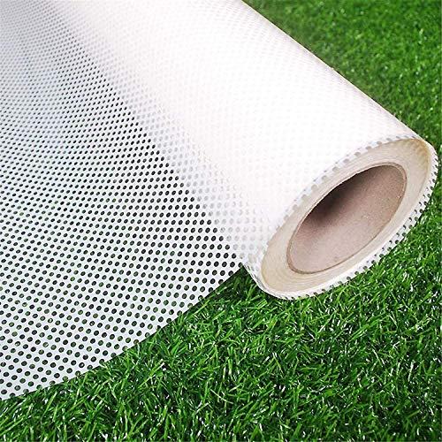 JAJ Black Perforated One-Way Vision - Rollo de vinilo adhesivo para ventana de coche (35 x 196 pulgadas), color blanco