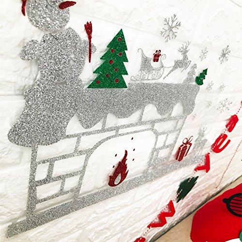 Wapel Creative Parete Finestra Adesivi Vetrofanie Adesivi Porta Parete Forniture Di Natale