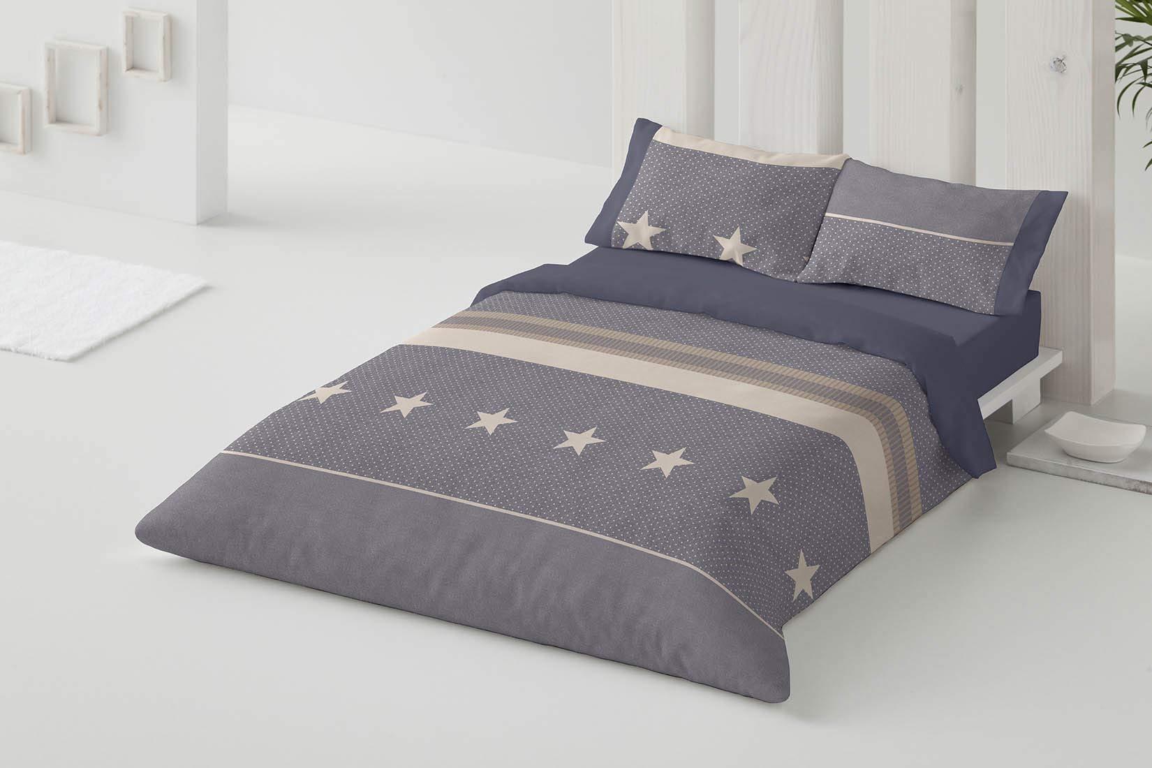 Burrito Blanco Juego de Funda Nórdica con un Diseño de Estrellas ...