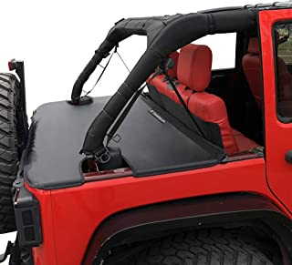 Shadeidea Jeep Wrangler Tonneau Cover JK Unlimited 4 Door Rear Trunk Cover Cargo Vinyl Cover for 2007-2017 JKU Tailgate To...