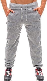 LEE Brother Men's Pants Sweatpants Men Men's Young Fashion Summer Sweatpants and Slacks Elastic Baggy Pockets Trousers Solid Colors Tracksuit Pants pone2ua (Color : Silver, Size : L)