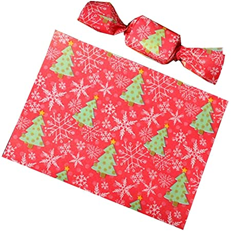 100 Sheets Christmas Nougat Making Supplies Wedding Candy Wrapping Twisting Wax Paper Merry Christmas