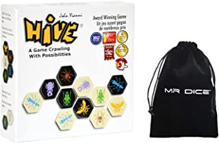 Hive Board Game - A Game Crawling with Possibilities Bundle with Mr Dice Drawstring Bag