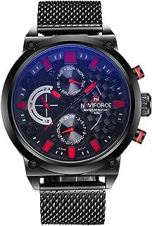Naviforce Luxury Brand Men Stainless Steel Analog Quartz 24 Hours Date Casual Sports Wirst Watch