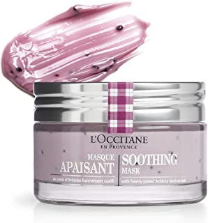 L'Occitane Soothing Face Mask Enriched with Blackcurrant Seeds for All Skin Types, Net Wt. 2.5 oz