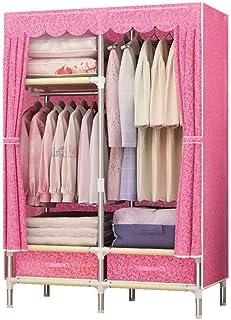 CXVBVNGHDF Armoires en Tissu Armoire à vêtements Support de Rangement pour vêtements avec 1 Tige de Suspension, Rapide et ...