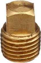 Lead Free Pipe Fitting, Square Head Solid Plug, 3/8