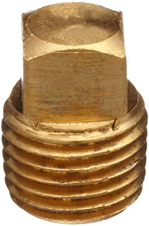 Brass Pipe Fitting Square Head Solid Plug 3//4 NPT male Class 125