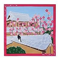 たまのお散歩 小風呂敷(四季×ねこ) ((2月)梅)
