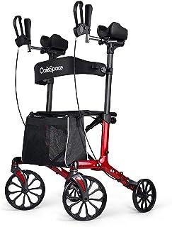 OasisSpace Fashion Armrest Walker - Rollator Walker with Seat, Large Wheel Walker for Senior