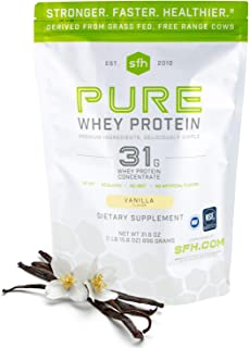 SFH Pure Whey Protein Powder by SFH | Best Tasting 100% Grass Fed Whey | All Natural | 100% Non-GMO, No Artificials, Soy F...