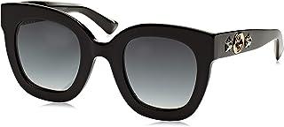Gucci GG0208S 001 Montures de Lunettes, Noir (1/Grey), 49 Femme