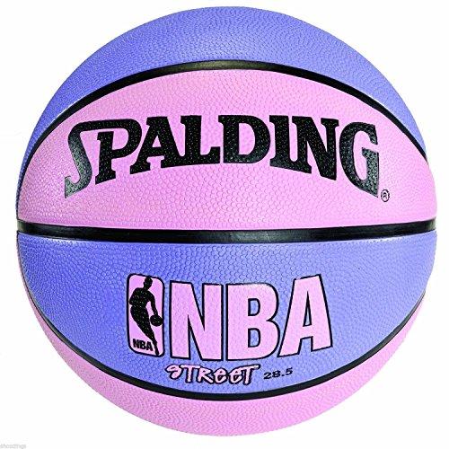Sale!! Spalding Pink & Purple NBA Street Basketball 28.5 Women Girl Outdoor Size 6 Ball