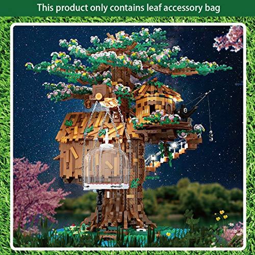 SESAY Paquete de hojas de arce y flores de cerezo para Mold King 16033 modelo de casa de árbol, 1504 piezas compatibles con Lego 21318 Baumhaus (sin modelo)