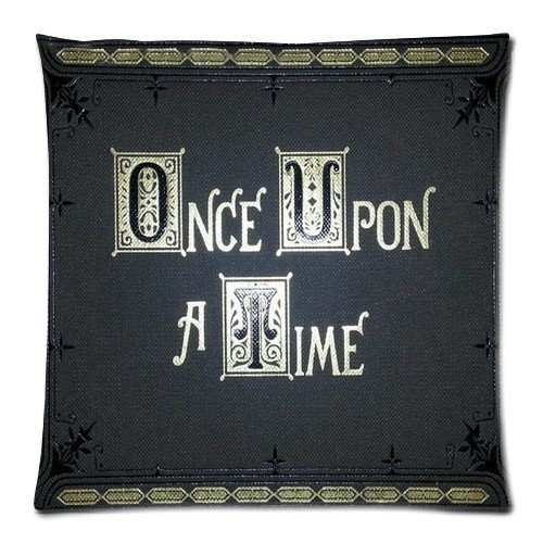 Soft Pillow Case Cover Decorative Sofa Throw Pillow 20x20 Inch Two Side Printing Zippered Pillowcase Once Upon a Time Book Cover Pattern Popular Design Gift for Fans Thanksgiving Mother's Day