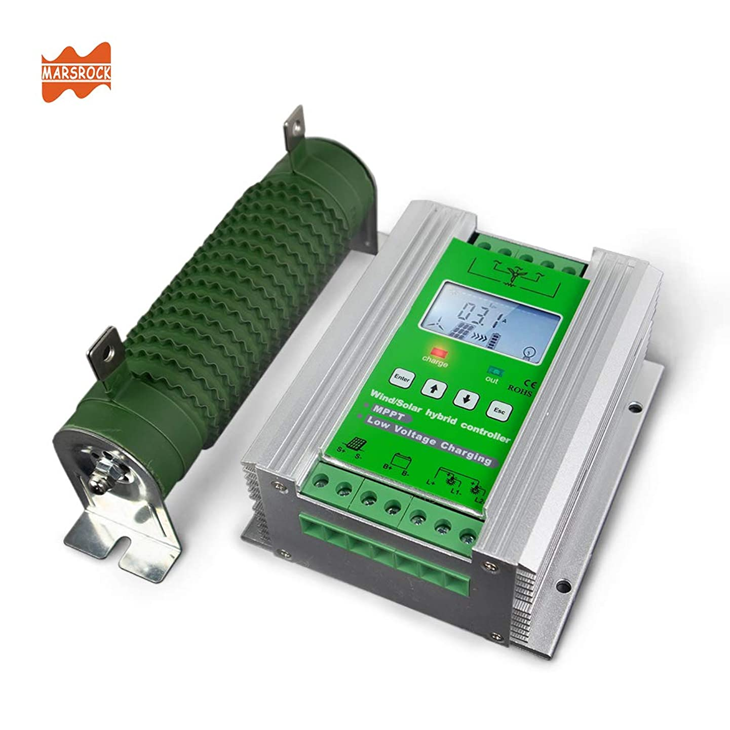 1400W 12V/24V Off Grid MPPT Wind Solar Hybrid Charge Controller Design for 0- 800W Wind with 0- 600W Solar Panel system with Booster Function and Dump Load