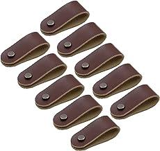 Handgemaakte lederen kast handvat trekt kast knoppen lade knop /handvat, 10 stuks lederen handvat pull moderne kast knoppen