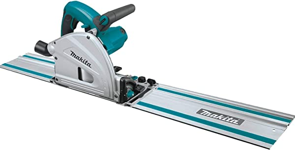 Makita Sp6000J1 6 1 2 Inches Plunge Circular Saw Kit With Stackable Tool Case And 55 Inches Guide Rail