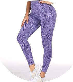 Demasia store-pants Women Blue Seamless Leggings Tummy Control Yoga Leggings High Waist Booty Leggings
