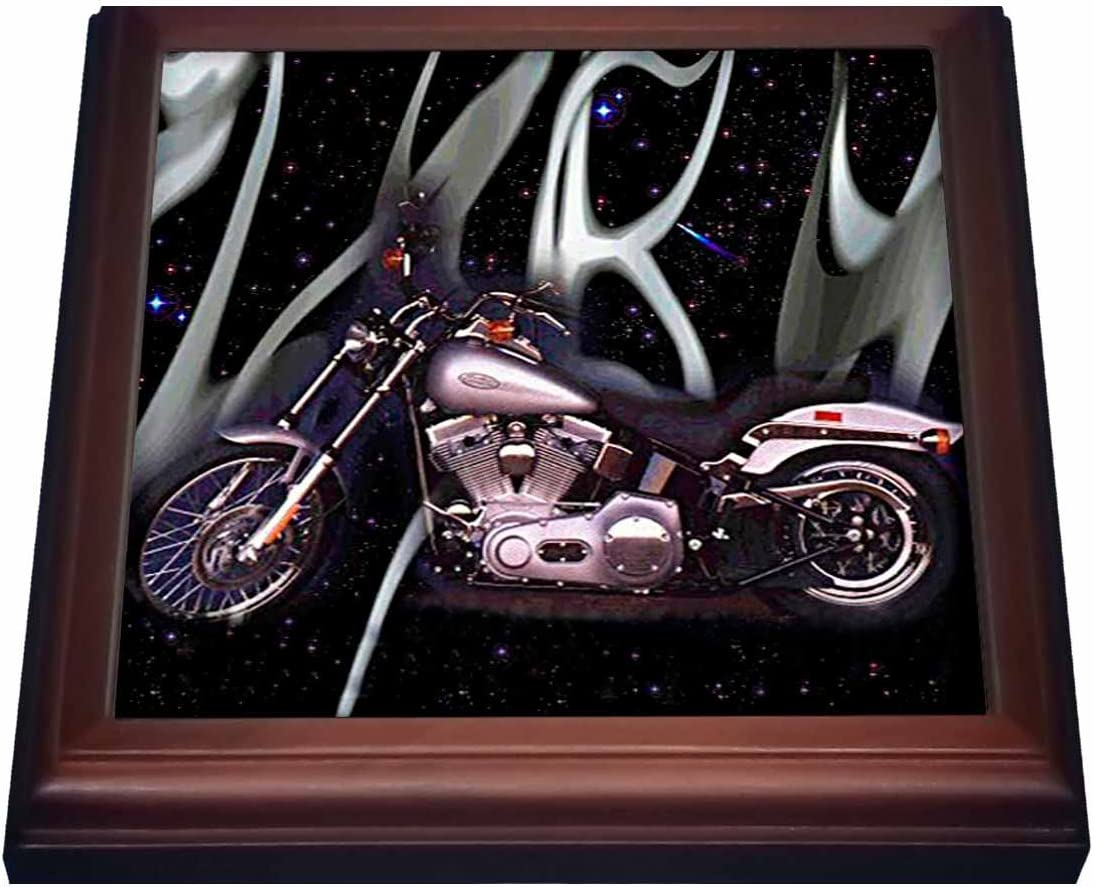 3dRose Trivet Ranking integrated 1st place Picturing Harley-Davidson #174 Ultra-Cheap Deals and Bro Motorcycle