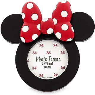 DisneyParks Photo Frame Minnie Bows Icon Round Red and Black Frame