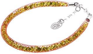 Bracciale Rosso in Argento 925 con Cristalli Luminosi Collezione Tennis