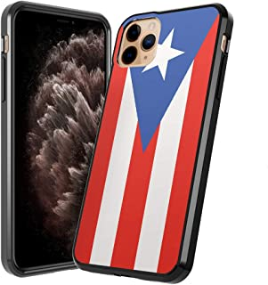 Moriko Case Compatible with iPhone 11 Pro Max [Cute Fusion Hybrid Designed Anti Scratch Slim Thin Soft Grip Black Case Protective Cover] for iPhone 11 Pro Max 6.5 Inch (Puerto Rica Flag)