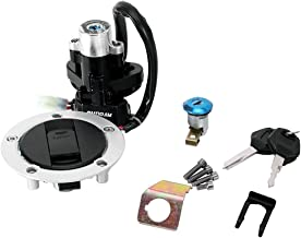 INNGLOW Motorcycle Ignition Switch Tank Gas Cap Cover Seat Lock Key Set Kit Fits For Suzuki GSXR 600 750 GSXR600 GSXR750 2004-2005