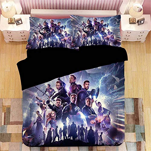 DTBDWOSY 3D Printed Duvet Cover Super King 260X220 Cm Movie Heroes Bedding With 2 Pillowcase Soft Brushed Microfiber Bedding Set With Zipper Closure Bedroom Decor Quilt Covers