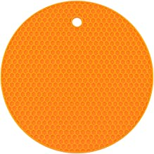 Yardwe Silicone Trivets Mat Multi-purpose Pot Holders Heat Resistant Non-slip Hot Pads Oven Pads (Orange)