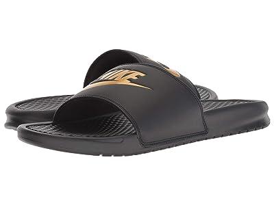 Nike Benassi JDI Slide (Black/Gold) Men