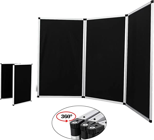 VEVOR Trade Show Display 3 Panel Panel Screen Each Panel Is 70 5x35 5 Inches Folding Screen With Gray Velcro Receptive Fabric 3 Panels